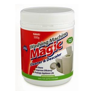 Washing machine cleaner and descaler